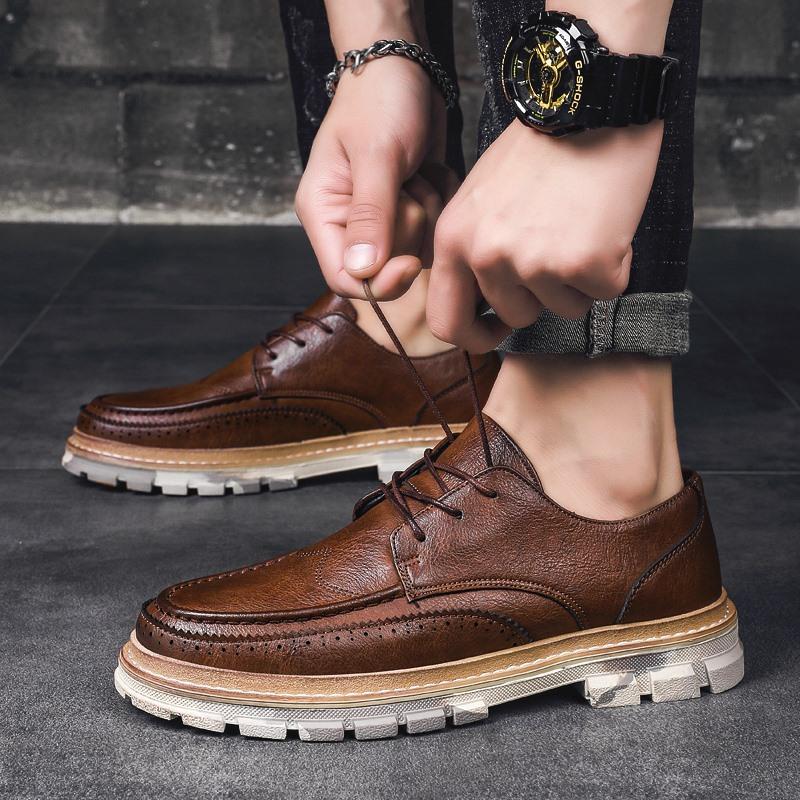 Giày da cho nam kiểu dáng retro giản dị