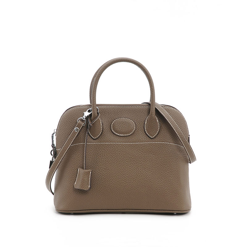 Spring and summer 2020 new litchi grain cowhide Shoulder Bag Handbag shell bag hand bag Bora bag