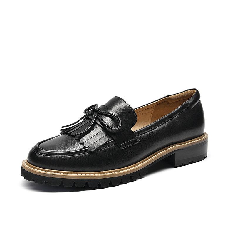 Giày mọi da mềm phong cách retro thời trang cho nữ .