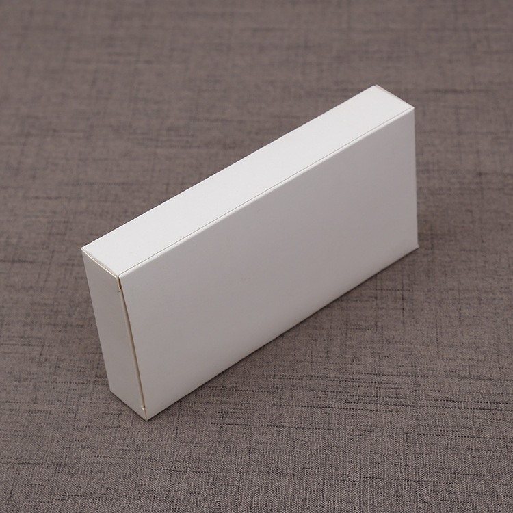Blank stationery folding carton white cardboard rectangular universal packaging carton
