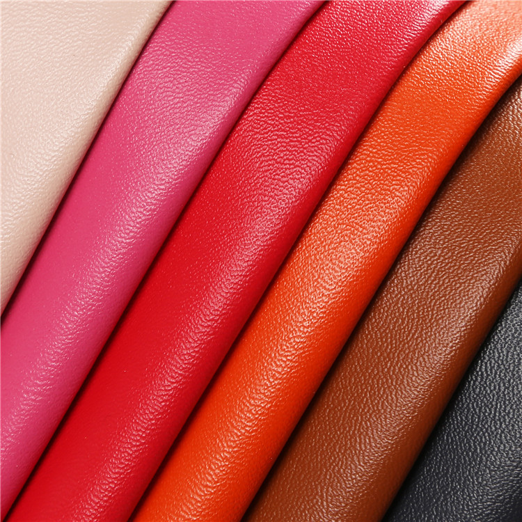 CHANGJIU Artificial leather sheepskin grain microfiber leather fabric 0.7mm sheep grain microfiber l