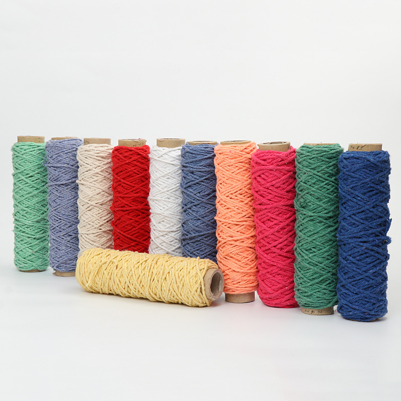HL A variety of colors are available for cotton yarn. Ply regenerated cotton spinning supports custo