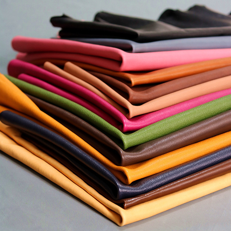 SENSHENG Color vegetable tanned leather, the first layer of sheepskin, crystal drum, soft goatskin l