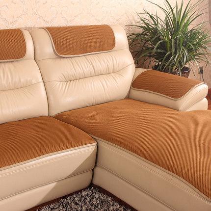 Đệm lót SoFa Đệm sofa da chống trơn trượt bốn mùa đệm ghế đa năng phong cách Châu Âu phòng khách đơn