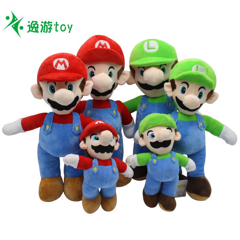 Bộ gấu bông hình hoạt hình Mario Brothers .