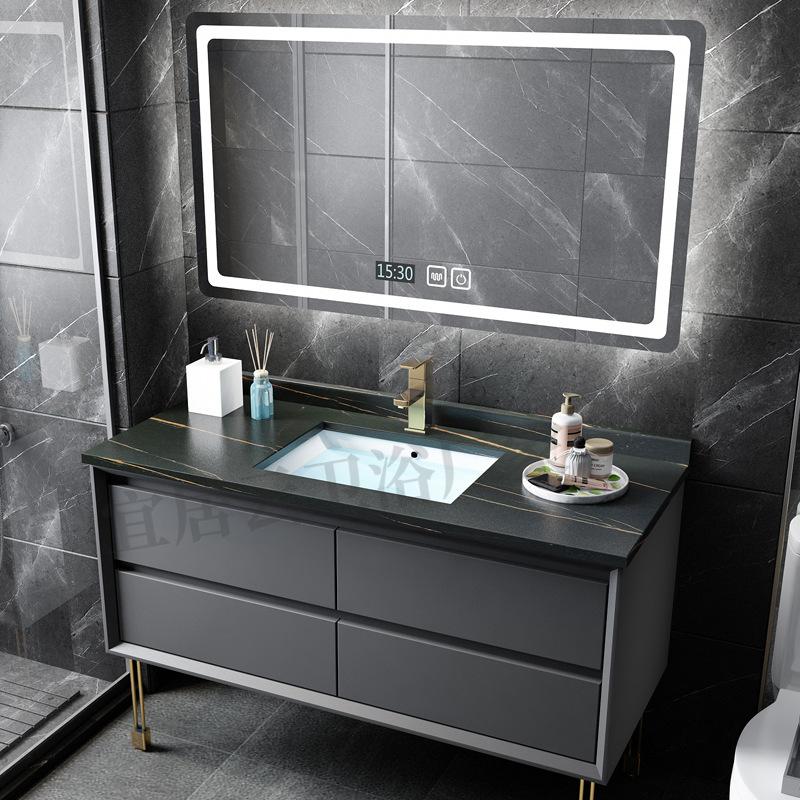 YIJUYUN Modern and simple solid wood light luxury wall-mounted vanity sink washbasin basin cabinet c