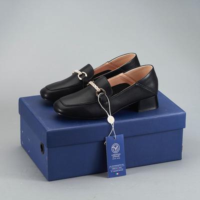 Giày da một lớp Valentino Orlando Autumn New Love