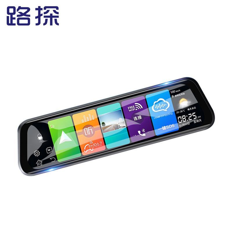 LUTAN Full screen 10 inch rear view mirror dash cam HD cloud mirror voice controlled Android navigat