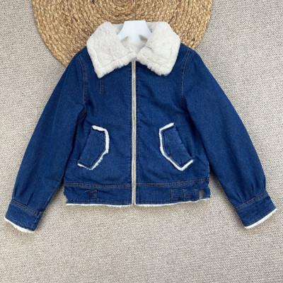 Áo khoác lửng 51343D Original D dành cho nữ Sản phẩm mới Thu / Đông 2020 Lamb Cashmere Ấm áp Ngắn De