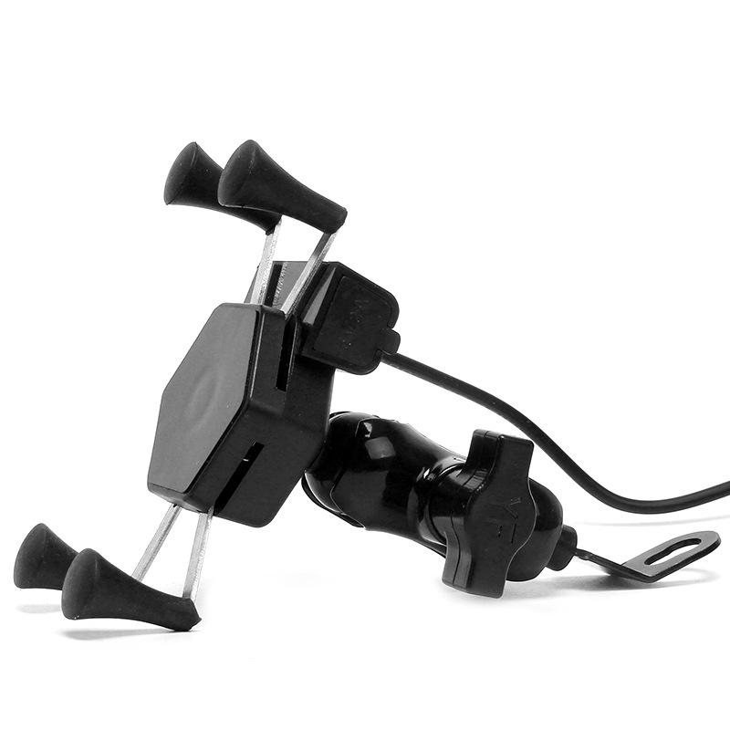 BFTCX Waterproof rechargeable X-type hexagonal USB navigator bracket for motorcycle and electric veh