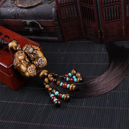 JIAYOU Car pendant, tiger's eye stone, car interior jewelry pendant, high-end car rearview mirror p