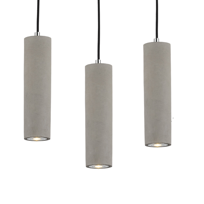Nordic simple small chandelier bedroom creative American simple restaurant industrial Fengshui pipe
