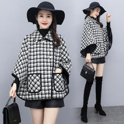Papaw milk Áo khoác lửng Áo khoác len ngắn thời trang thịnh hành 2020 khí chất Hàn Quốc áo cánh dơi