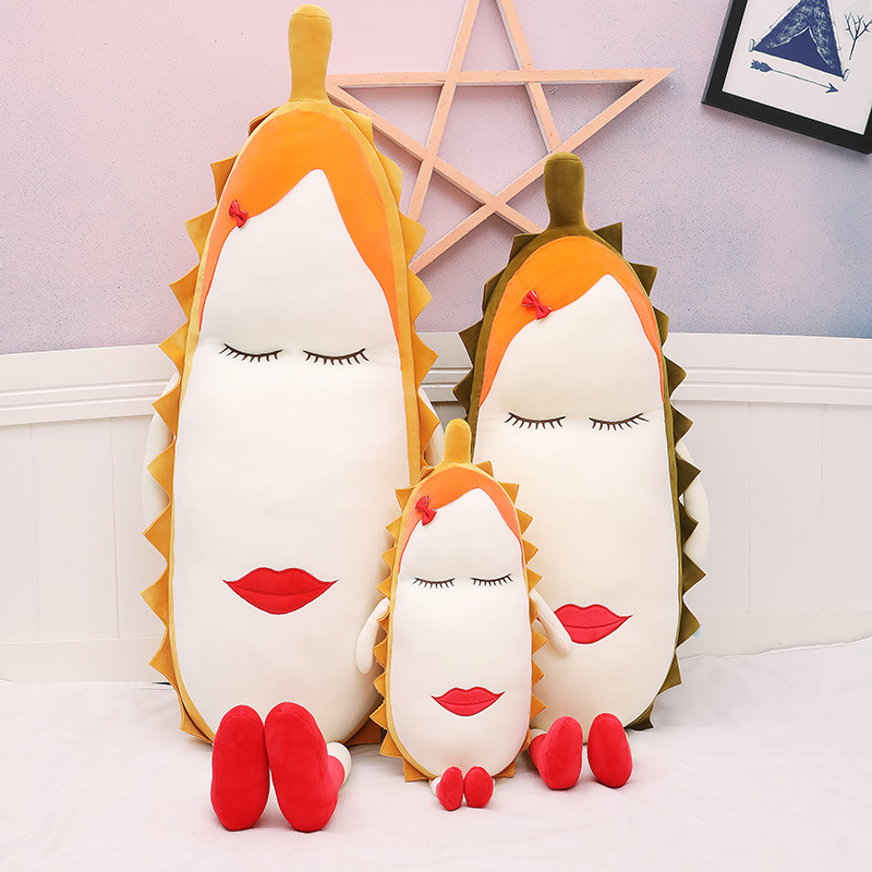 Creative fruit durian Plush Toy Doll Soft cute doll large strip sleeping pillow gift
