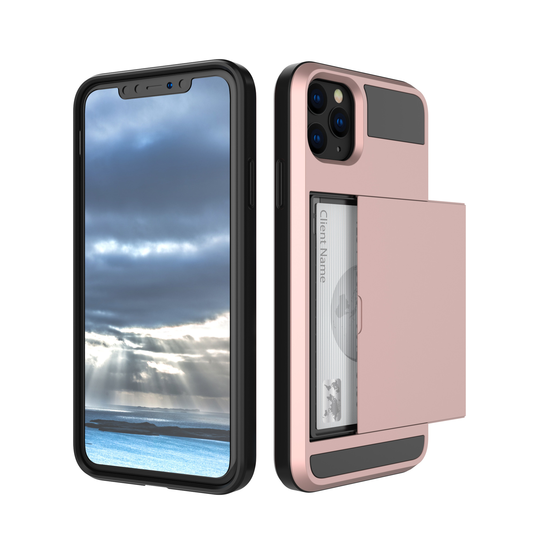 Suteni The new model is suitable for iPhone11Max mobile phone shell Note10 insert card to put cash b