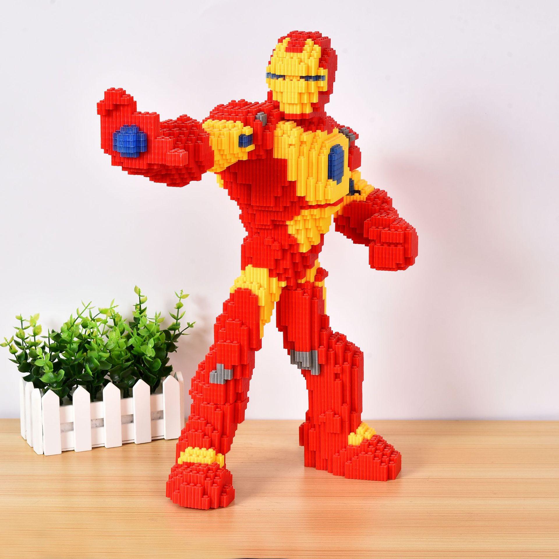 HAIPINCAI Creative early education puzzle assembly plastic toy diamond granule building block cartoo