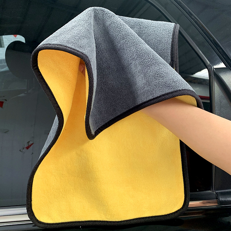 XUENING High-density car wash towel coral fleece double-sided thickened car wiper absorbent multifun
