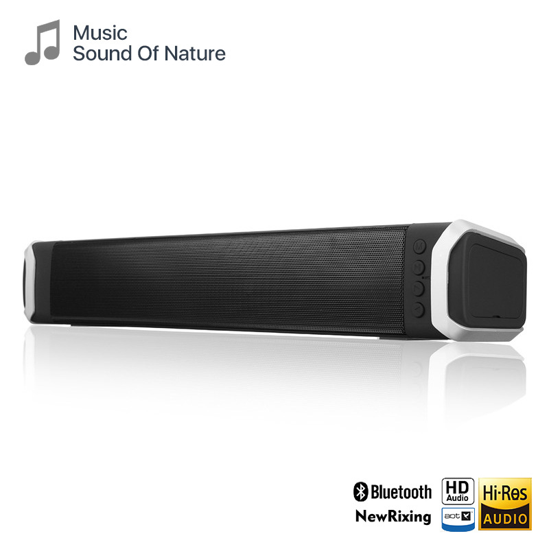 NewRixing 2020 new home office heavy bass Bluetooth speaker home theater dual speaker stereo strip s