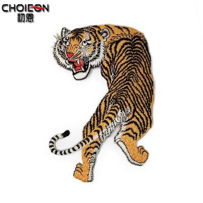 phù hiệu vải Tiger thêu vải dán nhà máy thêu máy tính gia công nhãn dán