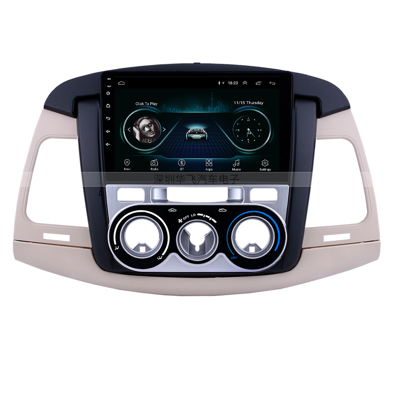 HUAFEI 2007-2011 innova manual air conditioning 9 Inch Touch Screen Android GPS navigation Bluetooth