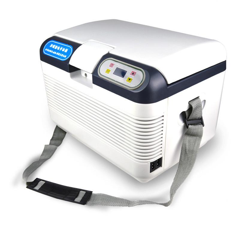 HUANJIE 12L dual refrigeration car refrigerator small refrigerator heating and cooling box car home