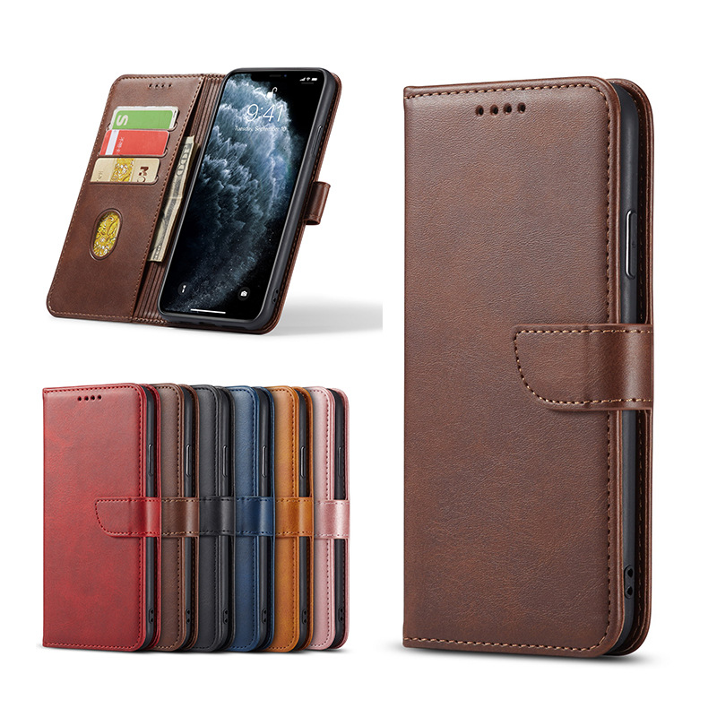 Suitable for Apple 11/XR mobile phone case iPhone 12 leather case Samsung Note 20 flip cover Huawei