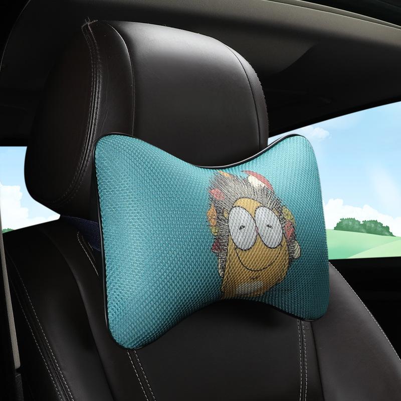 Gối cổ bảo vệ tựa đầu cho ô tô cặp gối đầu hoạt hình dễ thương