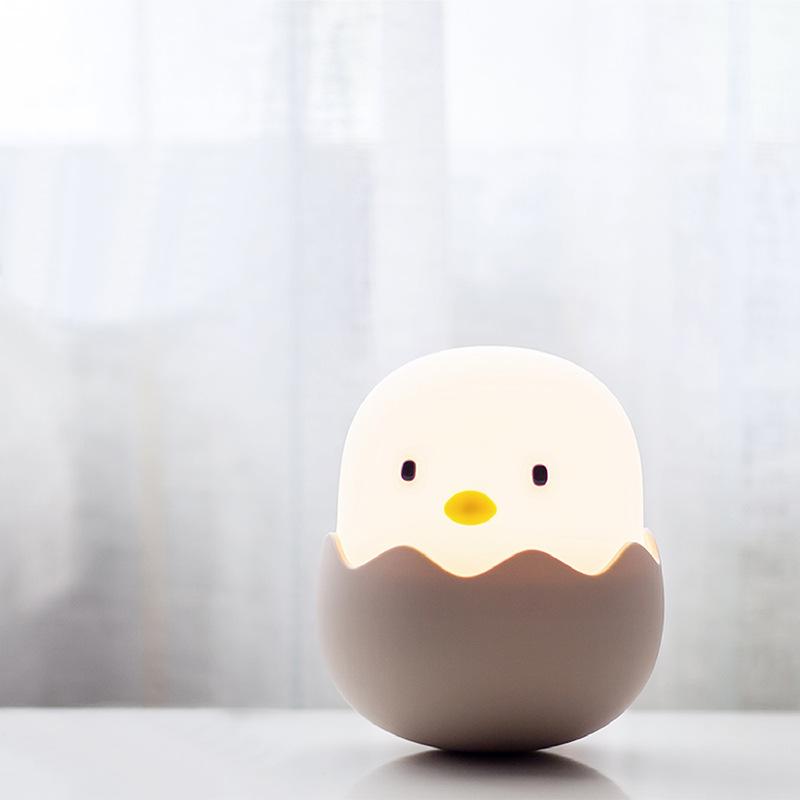 FlyDee Eggshell chicken night light, night feeding light, tumbler cartoon bedside usb rechargeable s