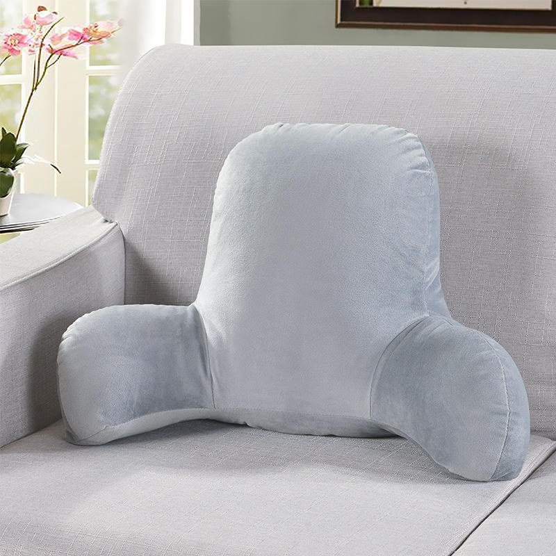 BUDANA Reading pillow short plush long feet big cushion pregnant woman waist pad office chair waist
