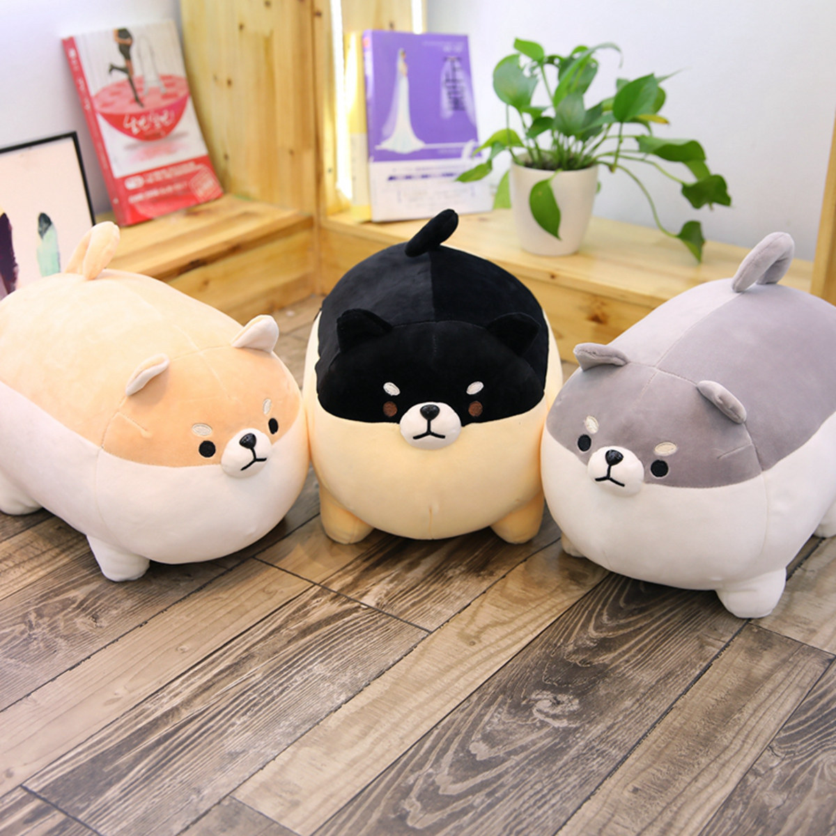 CATS LOVE New software cute fat Chai dog doll pillow plush toy down cotton standing dog doll doll gi