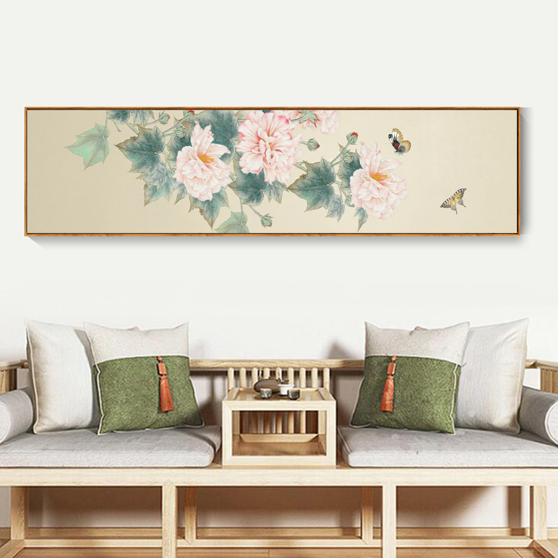 TUGUAN Bedroom Bedside Painting Hotel Guest Room Decoration Painting New Chinese Tea Room Zen Flower