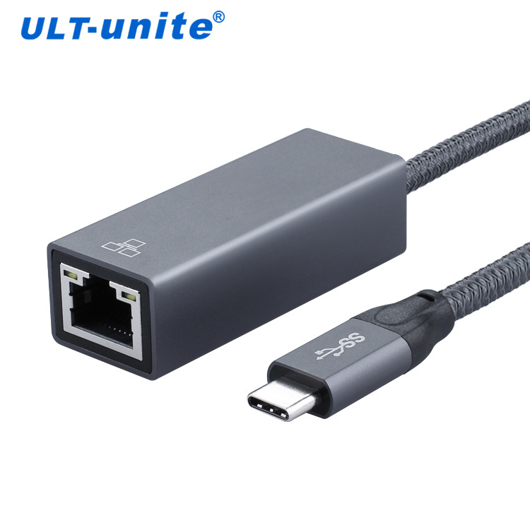 New product from stock usb3.1 type-C to RJ45 gigabit network port aluminum plug and play external ne
