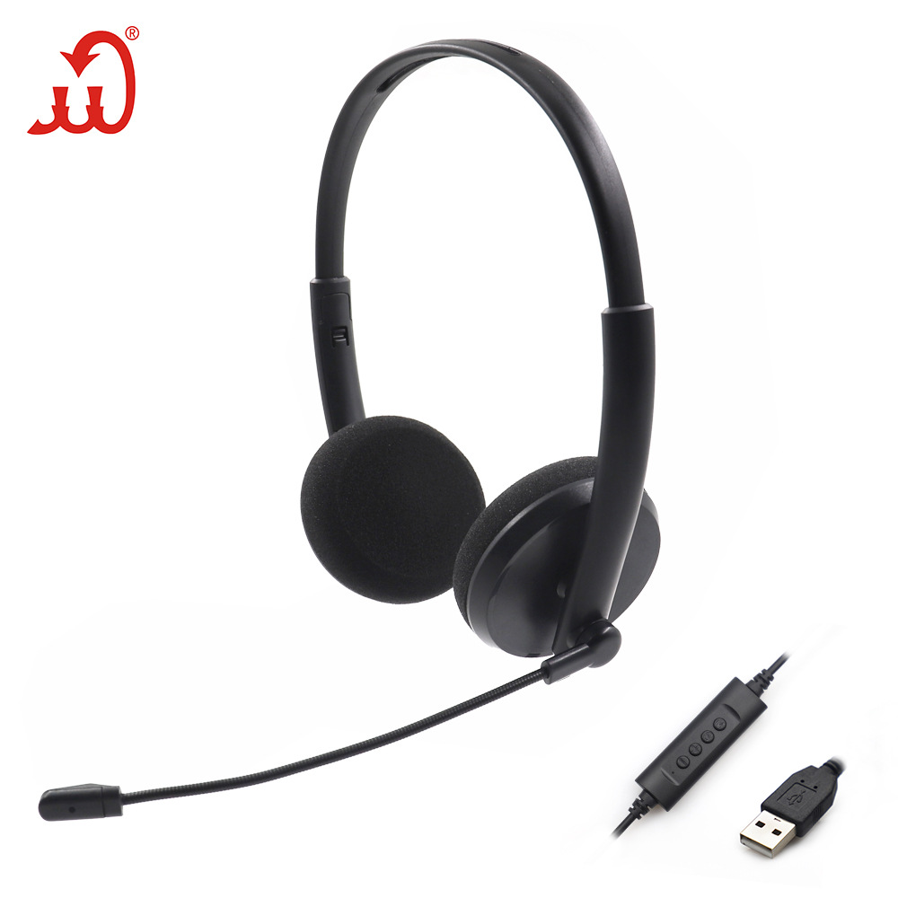 TIANXIELONG USB dual headset computer headset monitoring customer service headset with wire controll