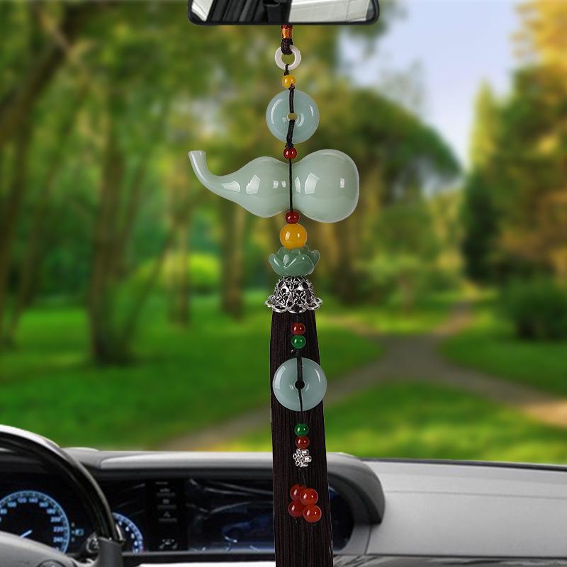 New car pendant perfume gourd car pendant car glass gourd ornaments high-end lotus gourd pendant