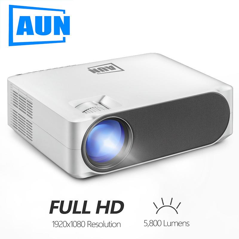 Aun intelligent digital projector, trapezoidal correction, cross-border direct heating sales, 1080p