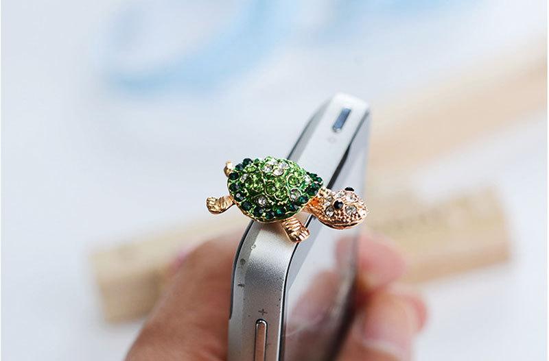 Bear turtle mobile phone dust plug cartoon dust plug Korea dust plug