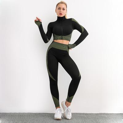 YJ JALAN Đồ Suits Nhà máy cung cấp trực tiếp xuyên biên giới Châu Âu và Mỹ Bộ đồ yoga liền mạch mặc