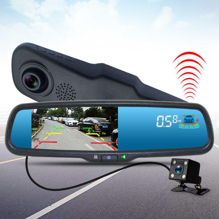 Driving recorder dual lens reversing radar all in one machine