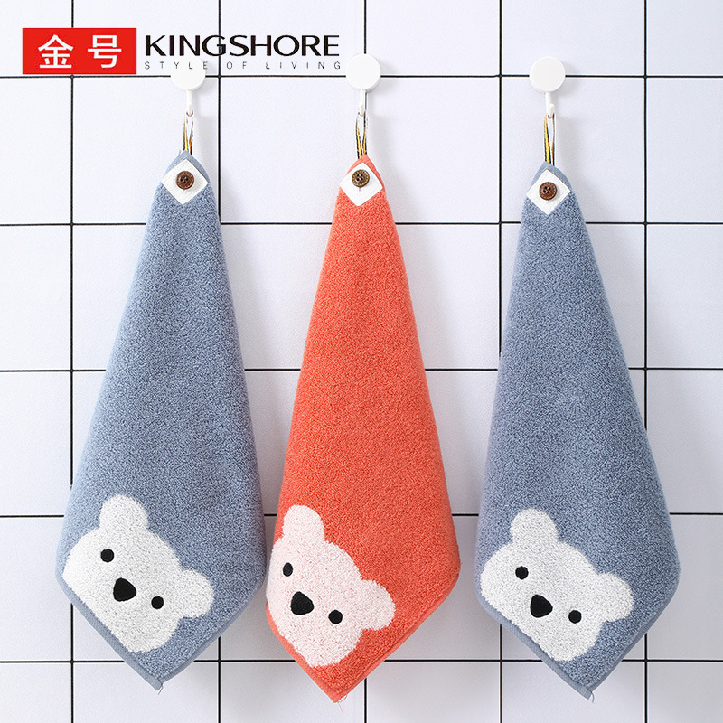 KING SHORE 3 pieces of gold label ladies face washing small square towel adult towel cartoon pure co
