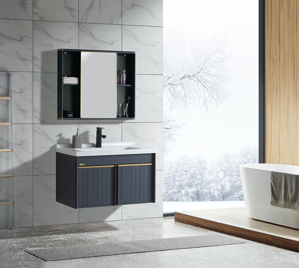 WOERJIN Wall Jin modern minimalist space aluminum bathroom cabinet bathroom washbasin vanity sink wa