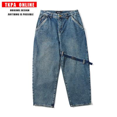 TKPA quần Jean TKPA dụng cụ retro Ami kaki giặt quốc triều thương hiệu quần jean nam và nữ đường phố
