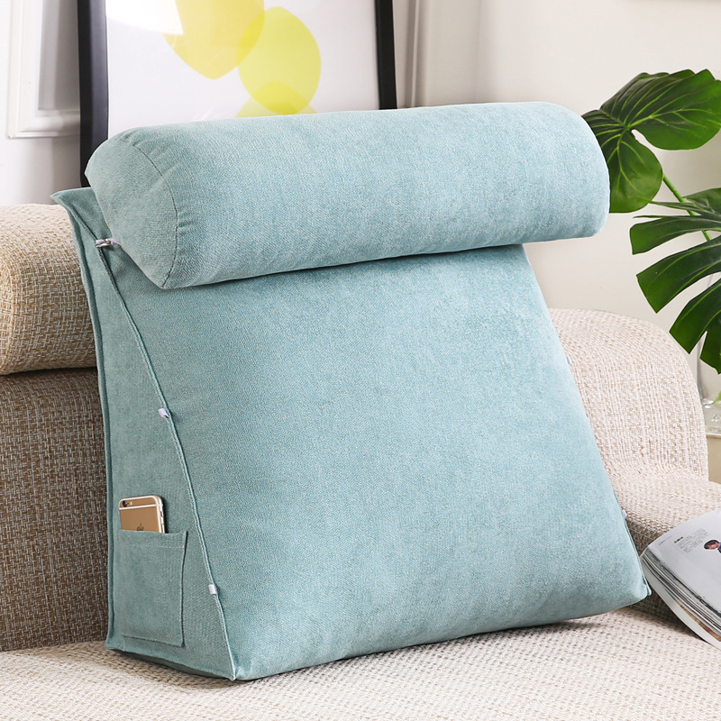 WEIDIE Korea velvet bedside large backrest triangle cushion sofa waist cushion office back cushion b