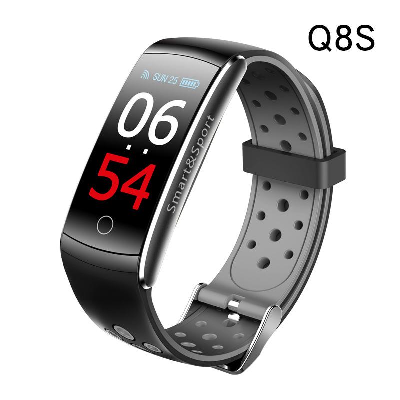 Q8S color screen smart blood pressure bracelet, accurate heart rate monitoring, multi-language WeCha