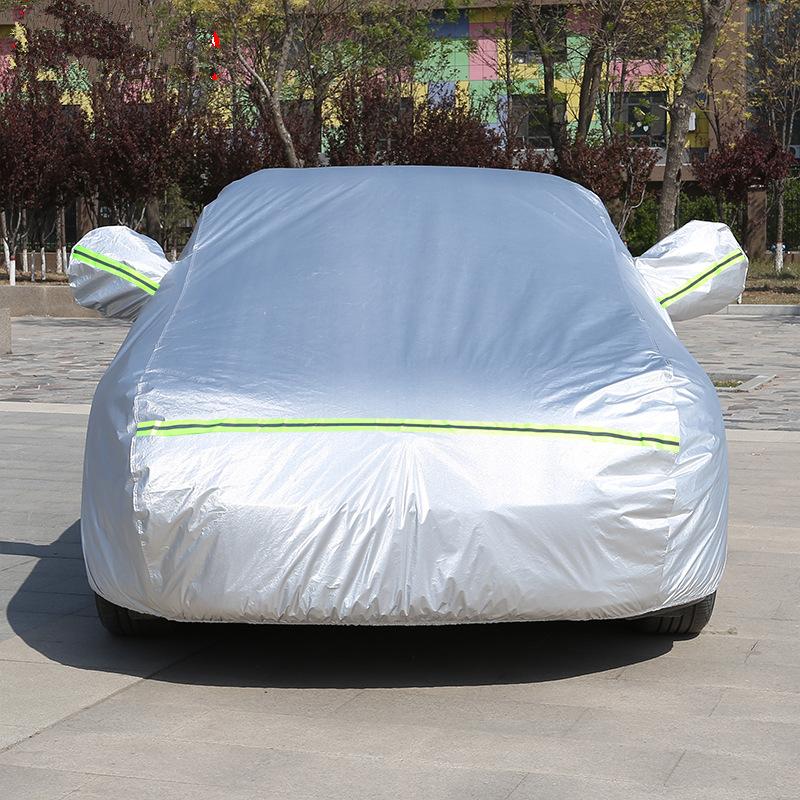BAJUN Car Sewing Cover Sunscreen Rainproof Heat Insulation Four Seasons Universal Oxford Fabric Thic