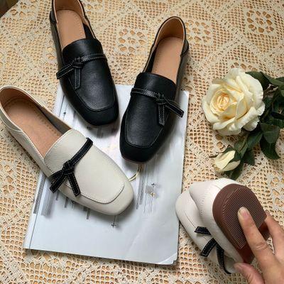 Giày lười bằng Da kiểu cổ điển cho nữ