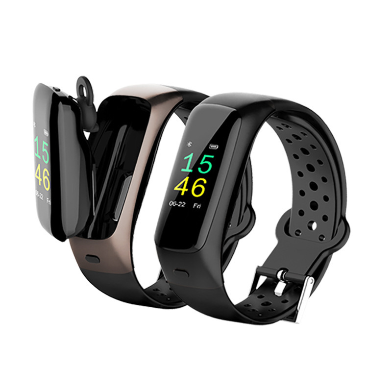 DECWIN Bluetooth headset call smart bracelet Bluetooth headset sports listening to songs two-in-one