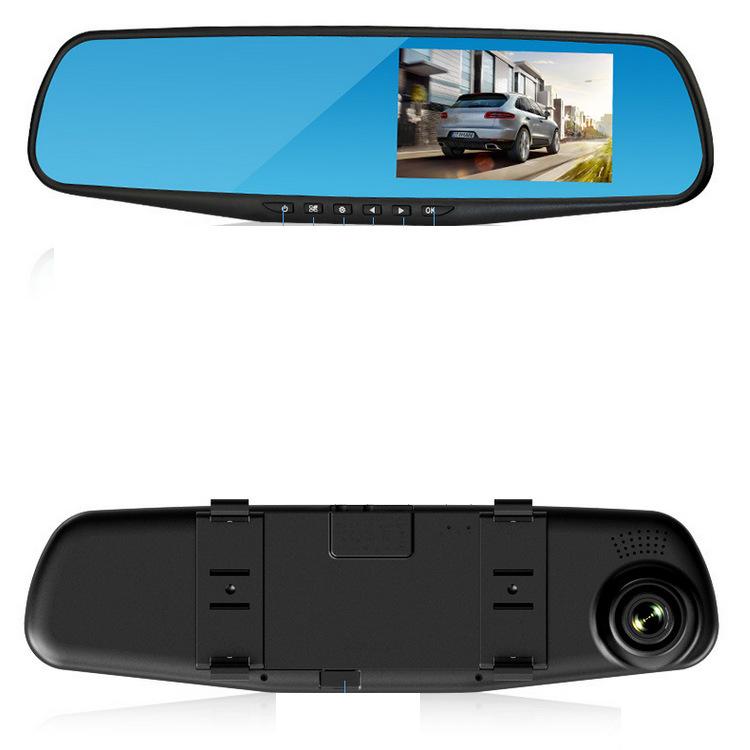 Rear view mirror dash cam 4.3