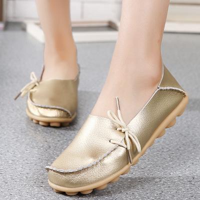Giày bệt bằng Da kiểu dáng đơn giản cho phụ nữ