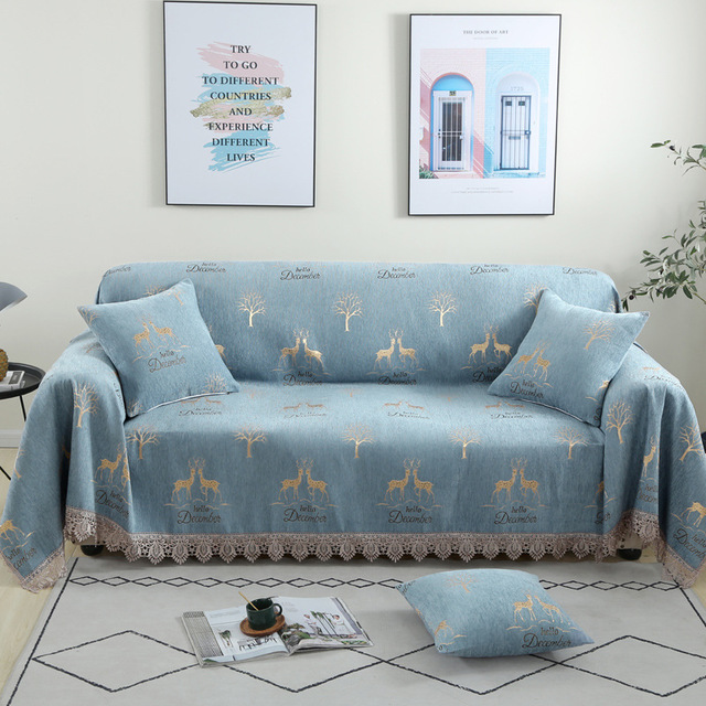 Living room sofa cover cover combination sofa cushion sofa towel sofa full cover chenille fabric thi