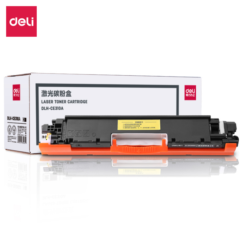 DELI Powerful DLH-CE310A Color Laser Toner Cartridge CP1025 Black Powder CRG-329BK Black Toner Cartr